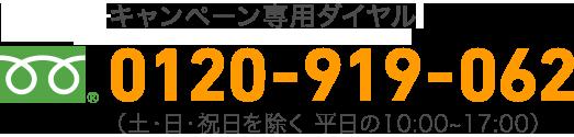 キャンペーン事務局電話番号:0120-919-062