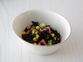ひじきと夏野菜のさっぱりサラダ