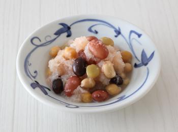 蒸しサラダ豆の明太おろし和え