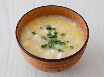 豆腐のかきたまスープ
