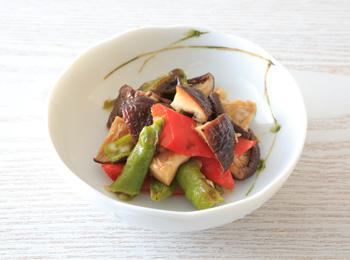 焼きしいたけと野菜のポン酢しょうゆ