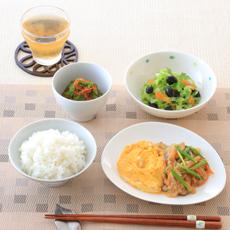 炒り卵の野菜あんかけ
