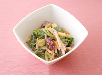 ごぼうと豆のごまサラダ