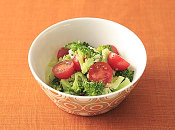 ブロッコリーとミニトマトのサラダ