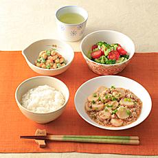 里芋とひき肉のピリ辛煮
