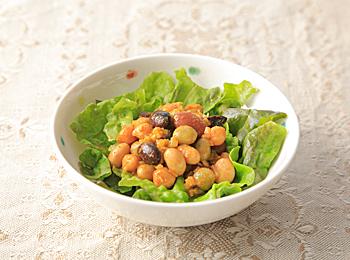 蒸しサラダ豆のカレーサラダ