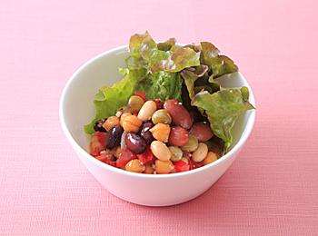 お豆のメキシカンサラダ