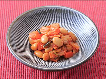 やさい豆とキムチの炒めもの
