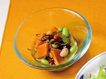 かぼちゃと豆の和風ピクルス