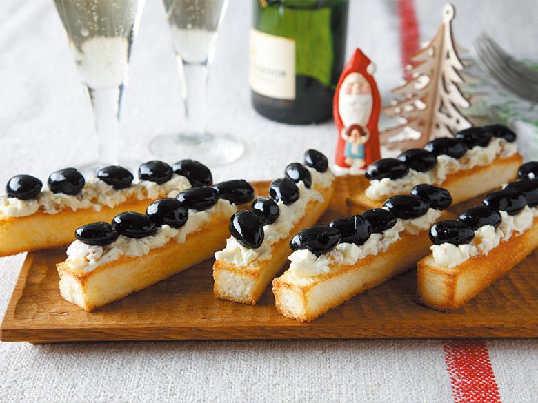 黒豆&クリームチーズのフィンガートースト
