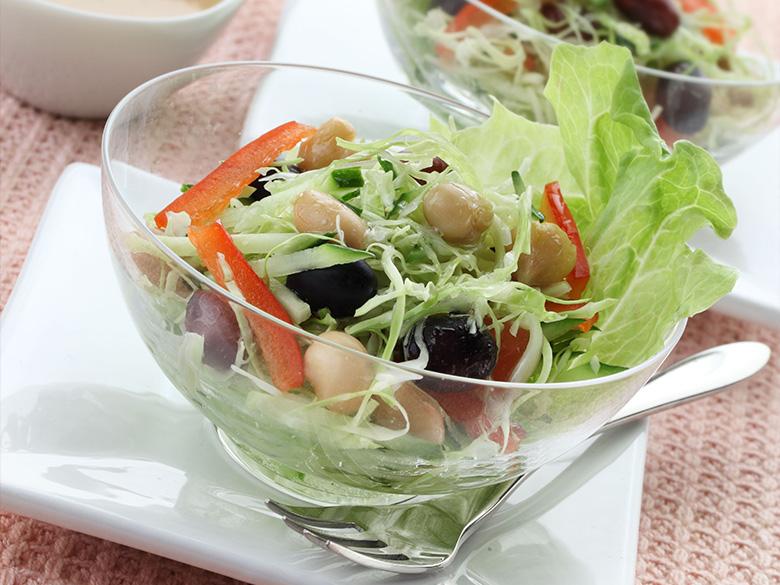 蒸し豆の野菜サラダ