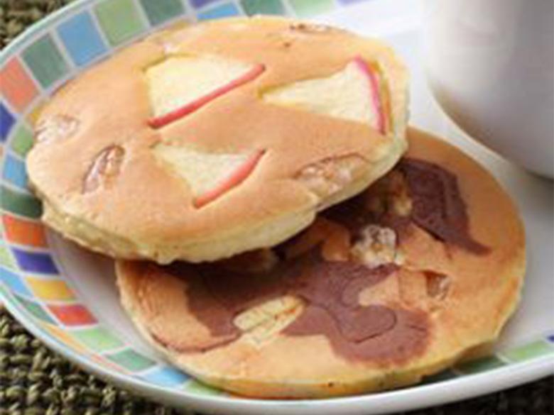 白花豆のパンケーキ2種